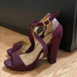 Purple ombré pumps